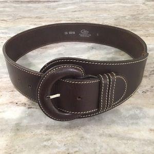 Italian leather wide belt like new!